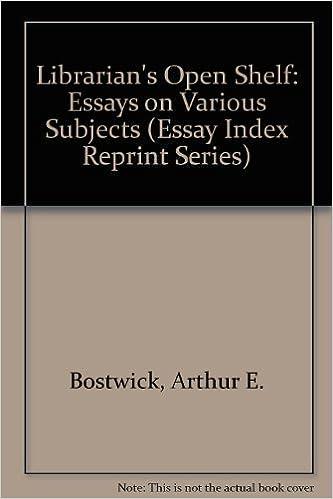 Scribd ebooks téléchargement gratuit Librarian's Open Shelf: Essays on Various Subjects (Essay Index Reprint Series) DJVU