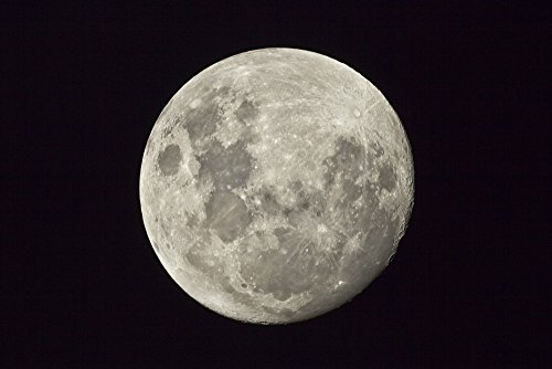 The moon as seen from the Southern Hemisphere Melbourne Australia Poster Print