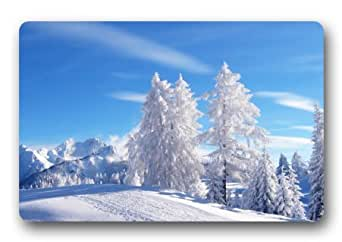 Fabulous Store Custom Arsenal invierno paisaje tela machine-wahable non-woven Felpudo para interiores/al aire libre
