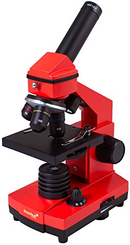 Levenhuk Rainbow 2L Plus Orange Student Microscope with Experiment Kit (64–640x) by Levenhuk
