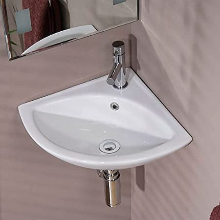 Corner Cloakroom Basin Bathroom Sink Wall Mounted Hung ; Small Modern  Designer Water Hand Wash ;