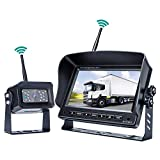 Cheap Digital Wireless Backup Camera System,No Interference, Easy Installation, IP69 Waterproof Wireless Rear View Camera, 7'' LCD Wireless Reversing Monitor Display for RV, Truck, Trailer, Bus, Vans