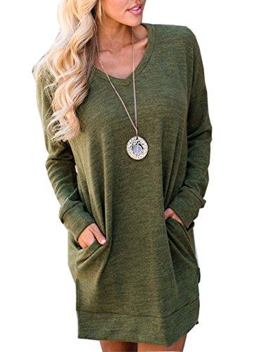 LemonGirl Womens Long Sleeve V-Neck Slim Fit Dress Pullover Sweater