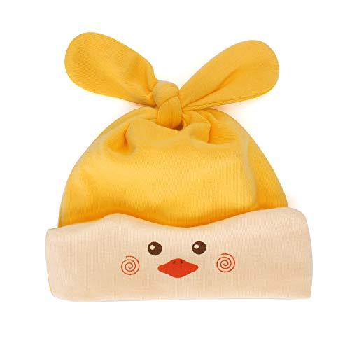 MK MATT KEELY Newborn Baby Cotton Hats Infant Boys Girls Soft Beanie Knot Hats for 0-18 Months Yellow