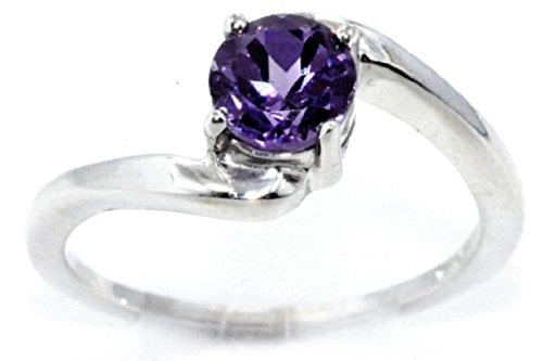 Alexandrite Round Ring .925 Sterling Silver