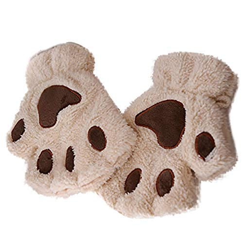 Women Winter Wrist Arm Warmer Knitted Keyboard Long Fingerless Gloves Mitten