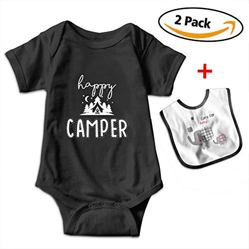 Camper Short Sleeve Onesie - POOPEDD Happy Camper Unisex Baby Short Sleeve Onesies Baby Bodysuit OutfitsBodysuits Infant Bibs