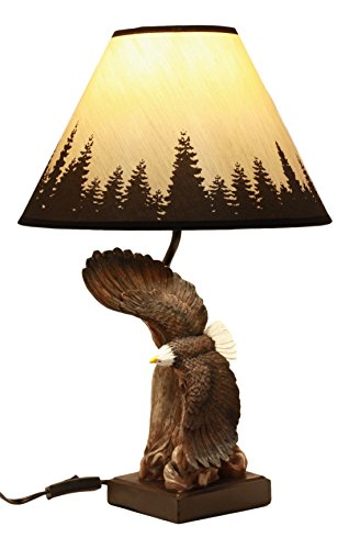 Ebros Wings Of Glory Soaring Bald Eagle Table Lamp, used for sale  Delivered anywhere in USA