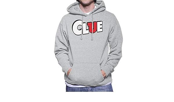 Hasbro Cluedo Clue Logo Mens Hooded Sweatshirt: Amazon.es: Ropa y accesorios
