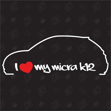 Speedwerk Motorwear I Love My Micra K12 Sticker Für Nissan Bj 03 10 Auto