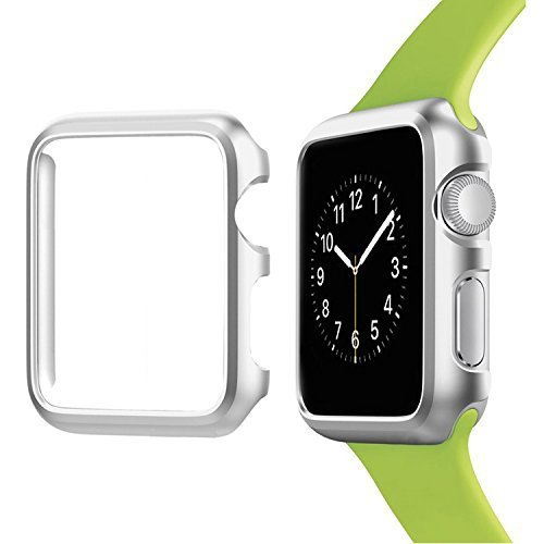 Josi Minea Apple Watch [42mm] Aluminum Protective Shell Bumper Case Cover - Premium Anti-Scratch & Shockproof Shield Guard for Apple Watch Series 3, 2 & 1 - 42mm [ Silver ]