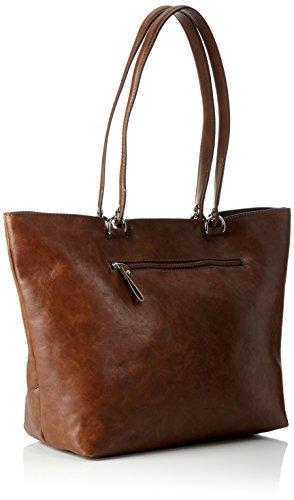 Tamaris Melanie Shopping Bag - Bolsos maletín Mujer Marrón (Cognac)