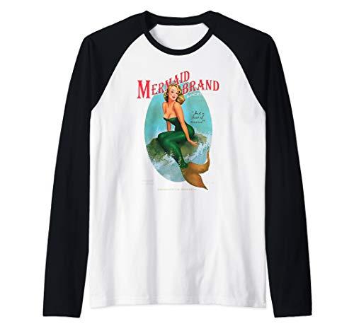 Mermaid Brand Design Jamaican Rum with a hint of Seaweed Raglan Baseball Tee