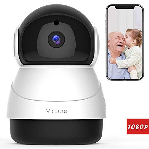 Victure 1080P FHD WiFi Wireless Security Camera IP Camera Indoor with Motion Detection,Night Vision,2-Way Audio for Baby/Pet/Elder-f