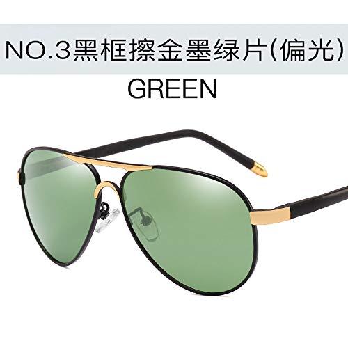 Gafas Aire Espejos Libre polarizadas green Sol Completo Sol ink Gafas de Black frame gold Negro al Marco Burenqiq Hombres para conducción Gris de Gafas Deportivas de Espejos film Sol de Plata rubbing nwZ6Axaq0Z