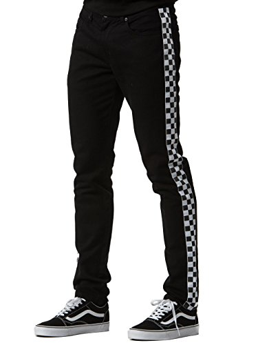 Black And White Checker (Young and Reckless - Gasket Jeans - Black/White - 31 - Mens - Bottoms - Denim - Black)