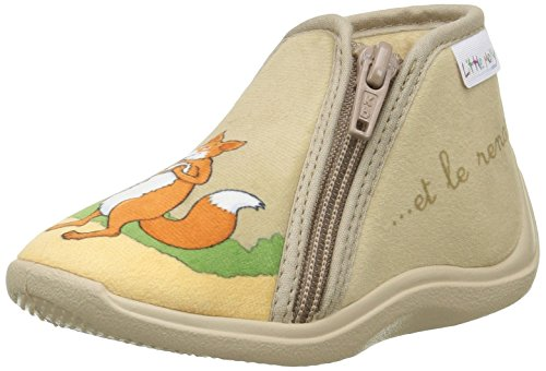 Little Mary Zecorbeau, Mocasines para Pie para Bebés Beige (Velours BeigeVelours Beige)