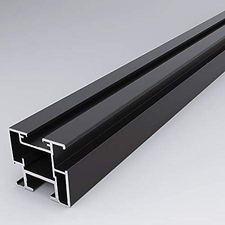 H x l 2040 x 830 Porte coulissante type atelier en aluminium
