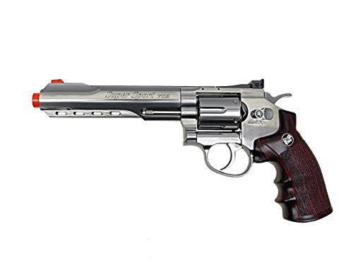 wg model-702s 6 revólver full metal co2 nbb incluido 6 revólver funda-nylon (Airsoft Gun)