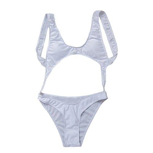LHWY Bikini Damen Push Up Jumpsuit rückenfreie String Bikini ...