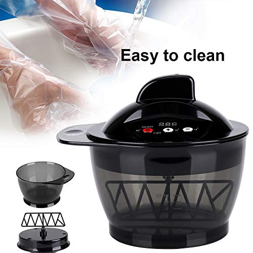 Electric Hairdressing Mixing Bowl, USB Rechargeable LCD Time Display Electric Hair Cream Automatic Mixer Hair Color Mixing Bowl, Hair Salon Coloring Bowl DIY Tools by Yosooo (Image #3)