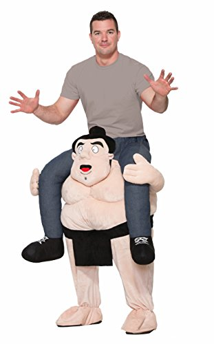 Make Your Own Halloween Costume Easy (Forum Men's Sumo Deluxe Ride-on Costume, As Shown, STD)