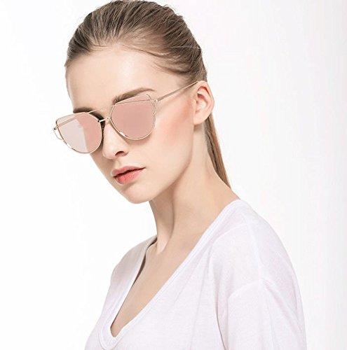De Twin Métal Pink Soleil Œil Chat Polarisées Gold Cadre Femmes Poutres AKABELA De Lentilles UV400 Mode Classique Lunettes Miroir Plates xRYpfwRqnZ