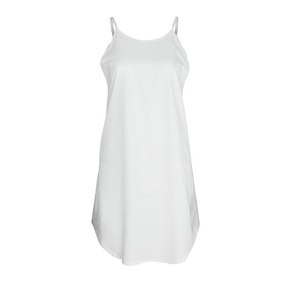 ❤ Mini Vestido sin Mangas, Vestido Casual de la Playa de la impresión sólida de Las Mujeres de la Manera Atractivo Absolute: Amazon.es: Ropa y accesorios
