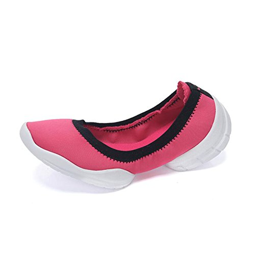 ONS Breathable Color Low Running Ladies Loafers Lightweight 37 amp; Size Sneakers Women's Slip Elasticity Flat Top Walking Shoes HUAN Shoes Loafers B wxUEO6