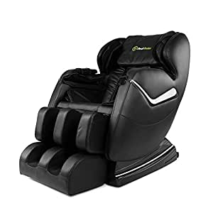 Real Relax Massage Chair Recliner - Full Body Shiatsu, Zero Gravity, Armrest linkage system,with Heater (Black)