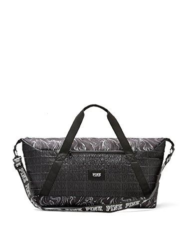 Price comparison product image Victoria's Secret PINK Marble Weekender Duffle Bag Oversized Travel New