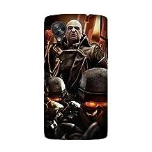 LG Nexus 5 Protective Case, Game Killzone 2 Protective Case Bumper [Anti-Slip] [Good Grip] with Aesthetic Print Hard Back Cover for LG Nexus 5