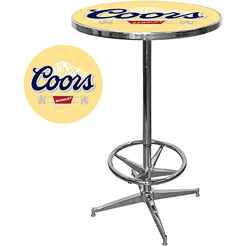 Chrome Gameroom Table - Coors Banquet Chrome Pub Table