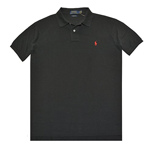 Polo Ralph Lauren Men's Polo Shirt Custom Fit (L, RL Black) (Custom Fit Polo)