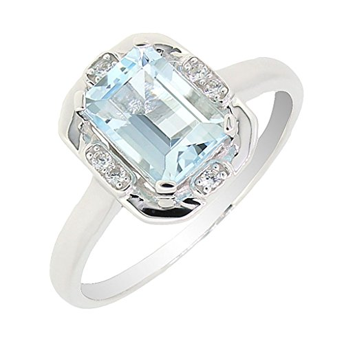 Vintage-Style-Sterling-Silver-Emerald-Cut-Genuine-Aquamarine-Ring-14-CTTW