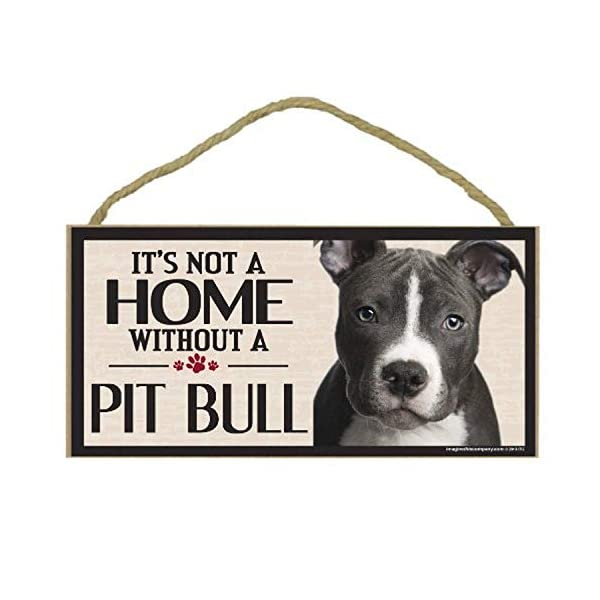 Imagine This Wood Sign for Pit Bull Dog Breeds 1
