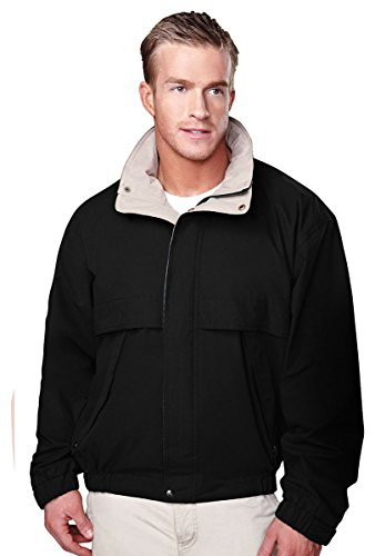 Tri-Mountain Men's 5300 Panorama Water-Resistant Microfiber Jacket,Black,XXL