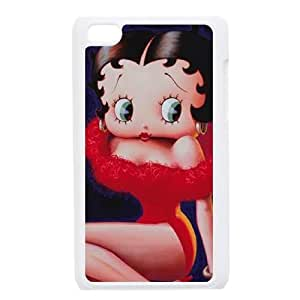 Durable Hard cover Customized TPU case Betty Boop Red Dress iPod Touch 4 Case White