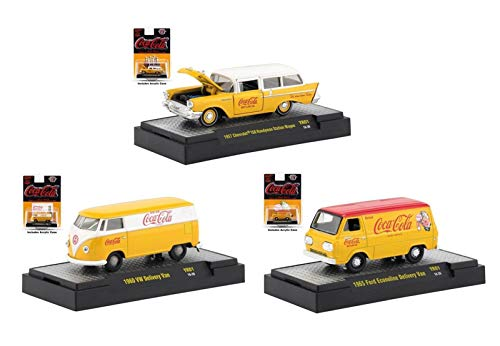 DIECAST Toys CAR M2 MACHINES 1:64 COCA-COLA Release YR01 Assortment (3 Styles) Set of 3 52500-YR01H ()