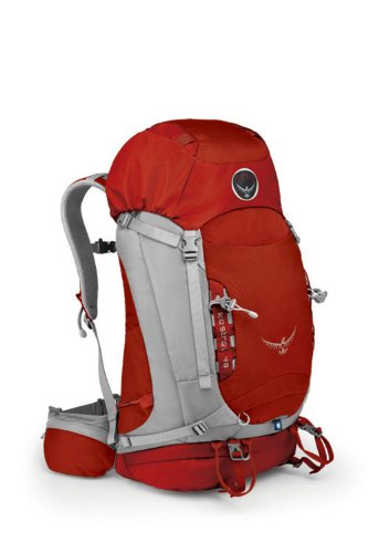 Osprey Packs Kestrel 48 Backpack (Fire Red, Medium/Large), Outdoor Stuffs