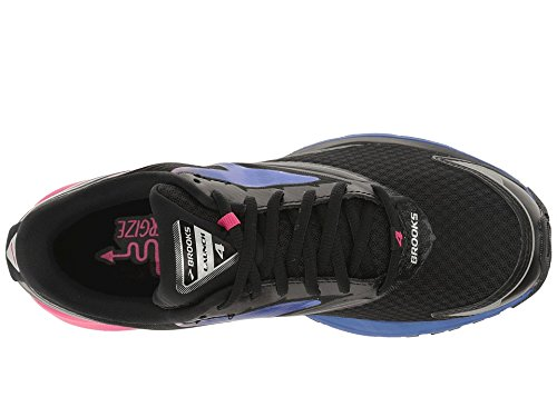 Brooks Women's Launch 4 Black/Fuchsia Purple/Dazzling Blue 8 B US
