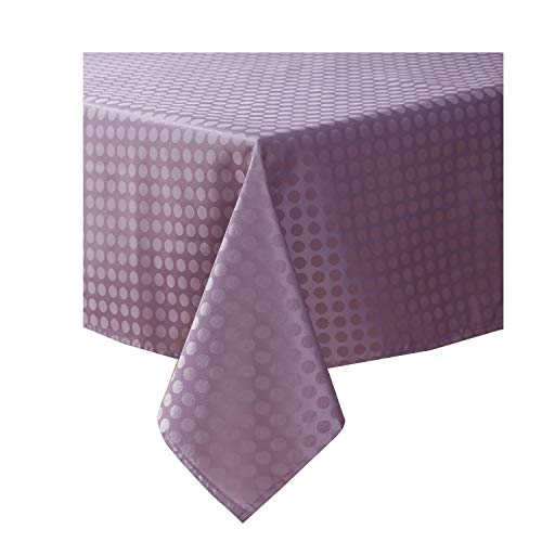 Jinlei Tablecloth for Kitchen Spillproof Waterproof Dust-Proof Dots Jacquard Table Fabric Cover Rectangle/Oblong 60 x 84 inches 1 Panel Purple -