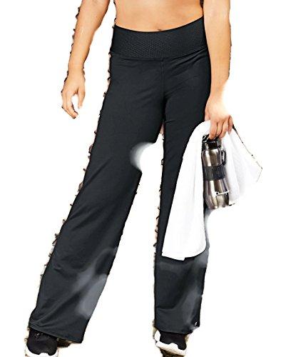 Champion Women's Plus-Size SmoothTec Semi-Fit Pant, Black, 2X