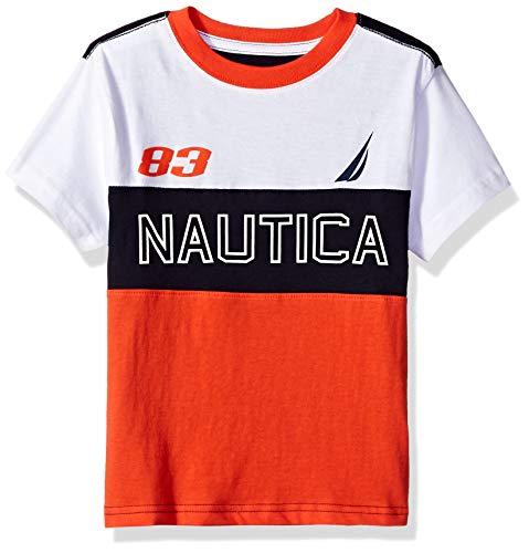 Nautica Boys' Little Short Sleeve Heritage T-Shirt, Rory Firework, 6 (Short T-shirt Firework Sleeve)