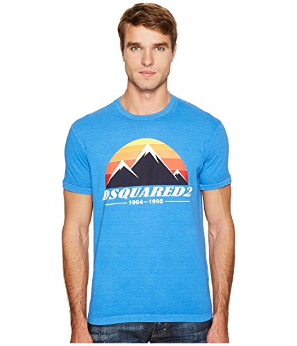 DSQUARED2  Men's Mountain Print T-Shirt Bluette T-Shirt by DSQUARED2