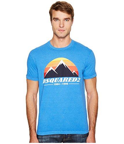 DSQUARED2  Men's Mountain Print T-Shirt Bluette T-Shirt by DSQUARED2