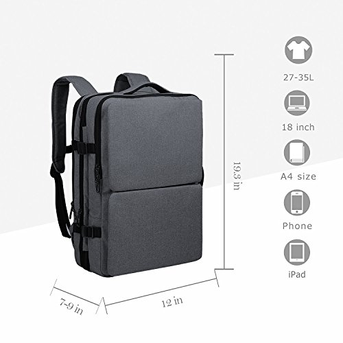 Compartments Grey 17 Computer Bag 35L Bag Blue Business Unisex Alien Water Satchel Rucksack Black Double Cai Resistant Laptop Multifunctional Travel Ash 09099 3'' Backpack Hiking Convertible Large Bag Backpack 6qfAwdA