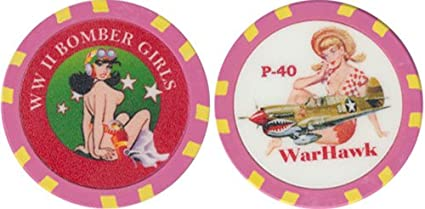 WWll Bomber Girls The P-40 Chip Collectible Series * Fantasy Chip