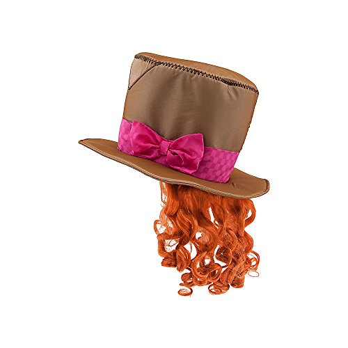 [Disney Store Mad Hatter Hat For Kids Includes Wig Alice Looking Glass Costume] (After Party Alice Costume)