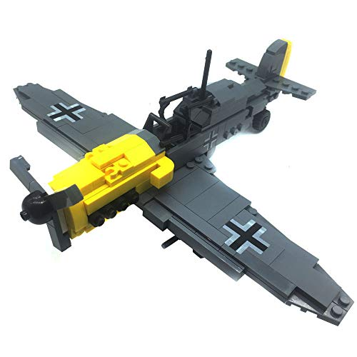 Bestoyz The Fighter of World War II BF-109 Aircraft Building Bricks Kit, WWII Military US Army Airplane Model Toys (286PCS) from Bestoyz
